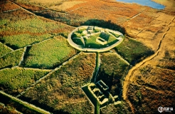 A8D2CY Inishmurray island, County Sligo, Ireland. Early Celtic Christian ring fort cashel monastic settlement and fisherman's cottage.
