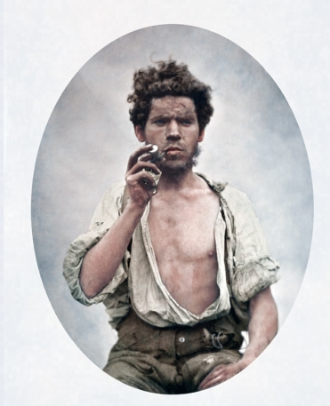 Irish laborer circa 1855