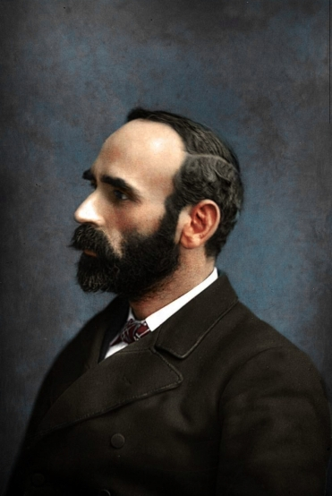 Michael Davitt, founder of the National Land League photographed in London 1880.