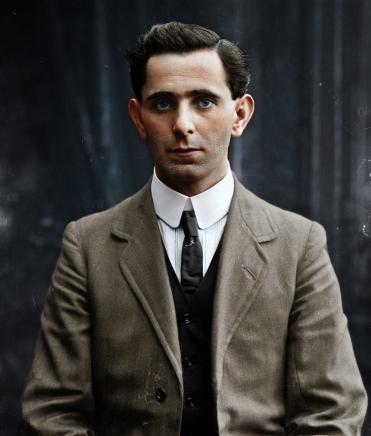 Séan Mac Diarmada, Irish revolutionary leader of 1916. Photographed in NYC c1914