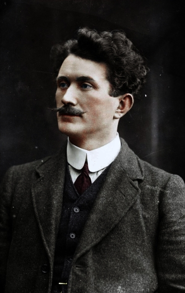 Thomas Ashe, battalion commander during the Rising of 1916 photographed by Keogh Bros in c1910