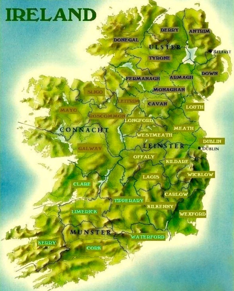 how and when the 32 counties of ireland formed  u2013 stair na